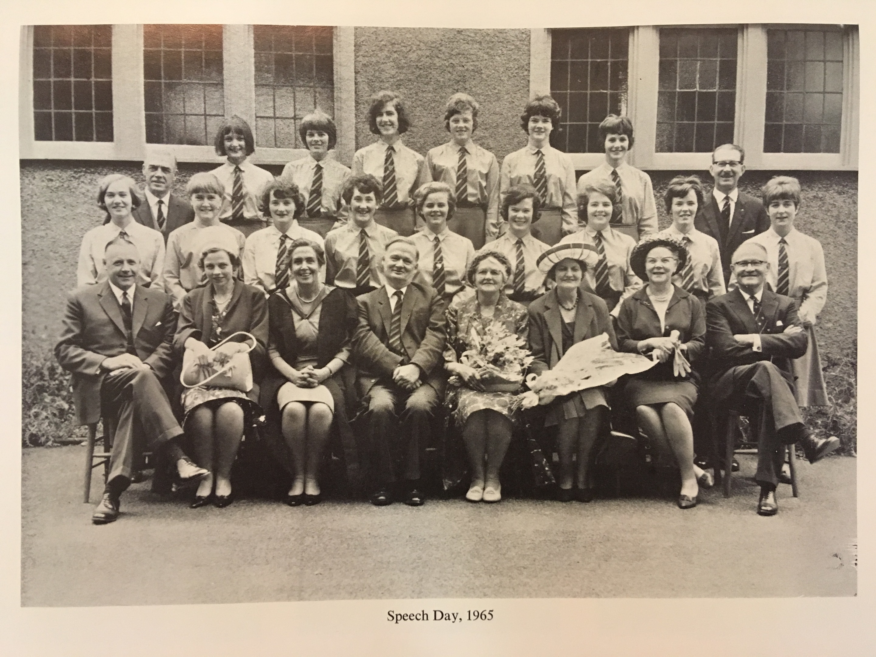 Tessa Jowell, back row furthest left, in her leaving year of 1965 at St Margaret's School in Aberdeen
