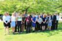 The 15 youngsters who have achieved gold awards for the Duke of Edinburgh challenge
