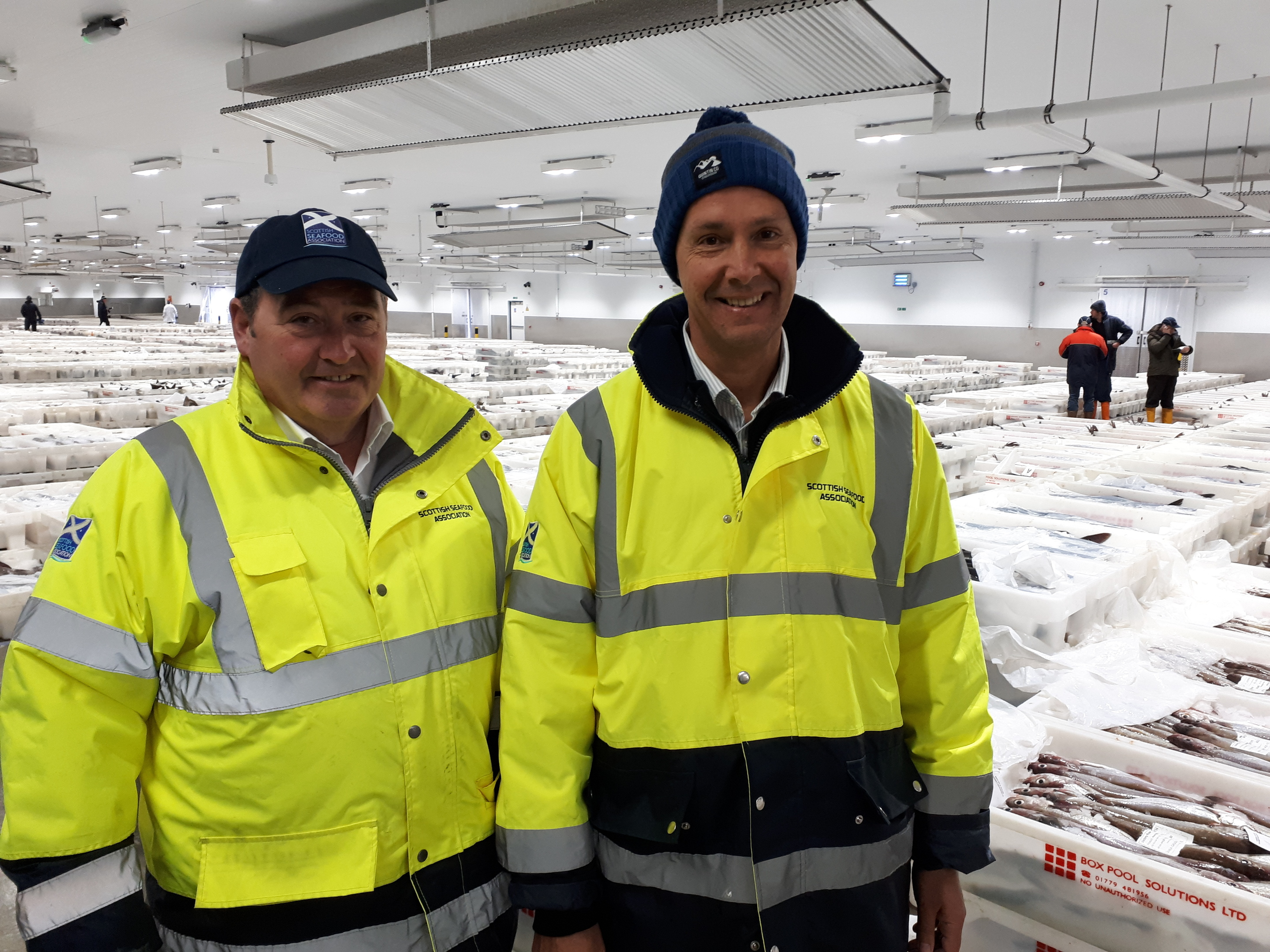 Chief executive Jimmy Buchan and technical training consultant Michael Sim at the new fish market