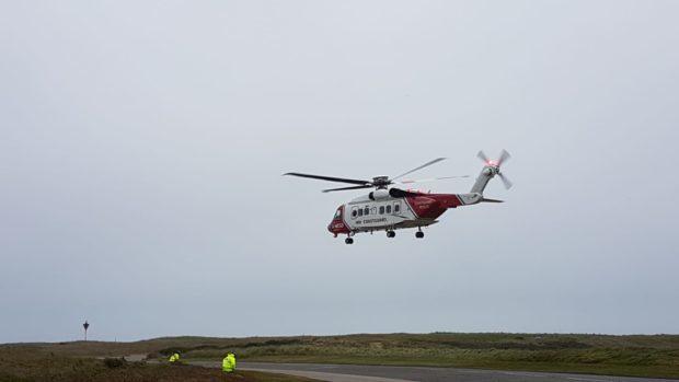 The coastguard helicopter