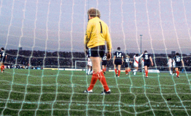 Alan Rough played in goal 53 times for Scotland.