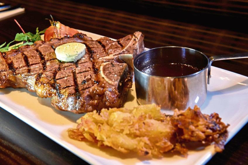 A succulent T-Bone steak