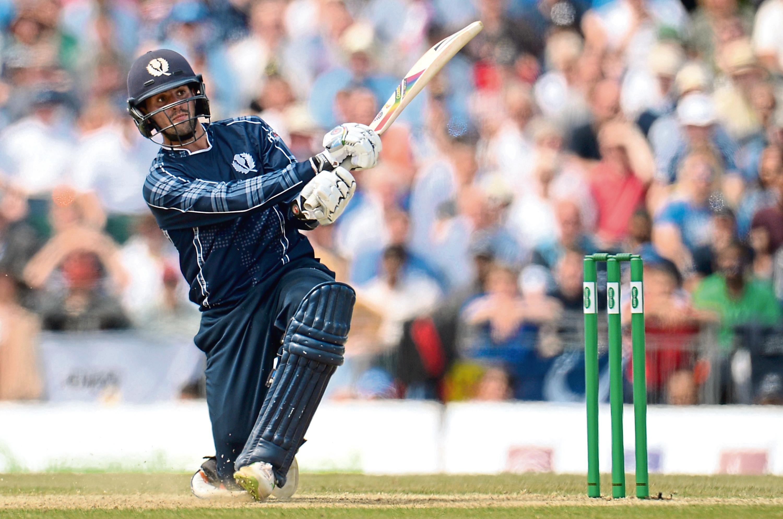 Calum MacLeod of Scotland bats during the One-Day International match  between Scotland and England