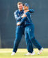 Scotland's Kyle Coetzer catches a shot from Eoin Morgan last year against England.