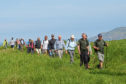 Volunteers joined the two walkers on the Southern Upland Way