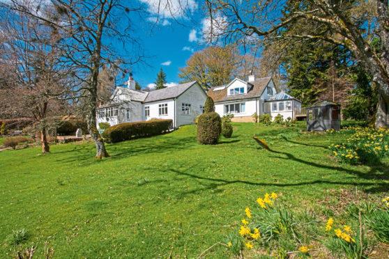 Burnside Lodge in Glen Prosen, by Kirriemuir, is on the market at offers over £550,000