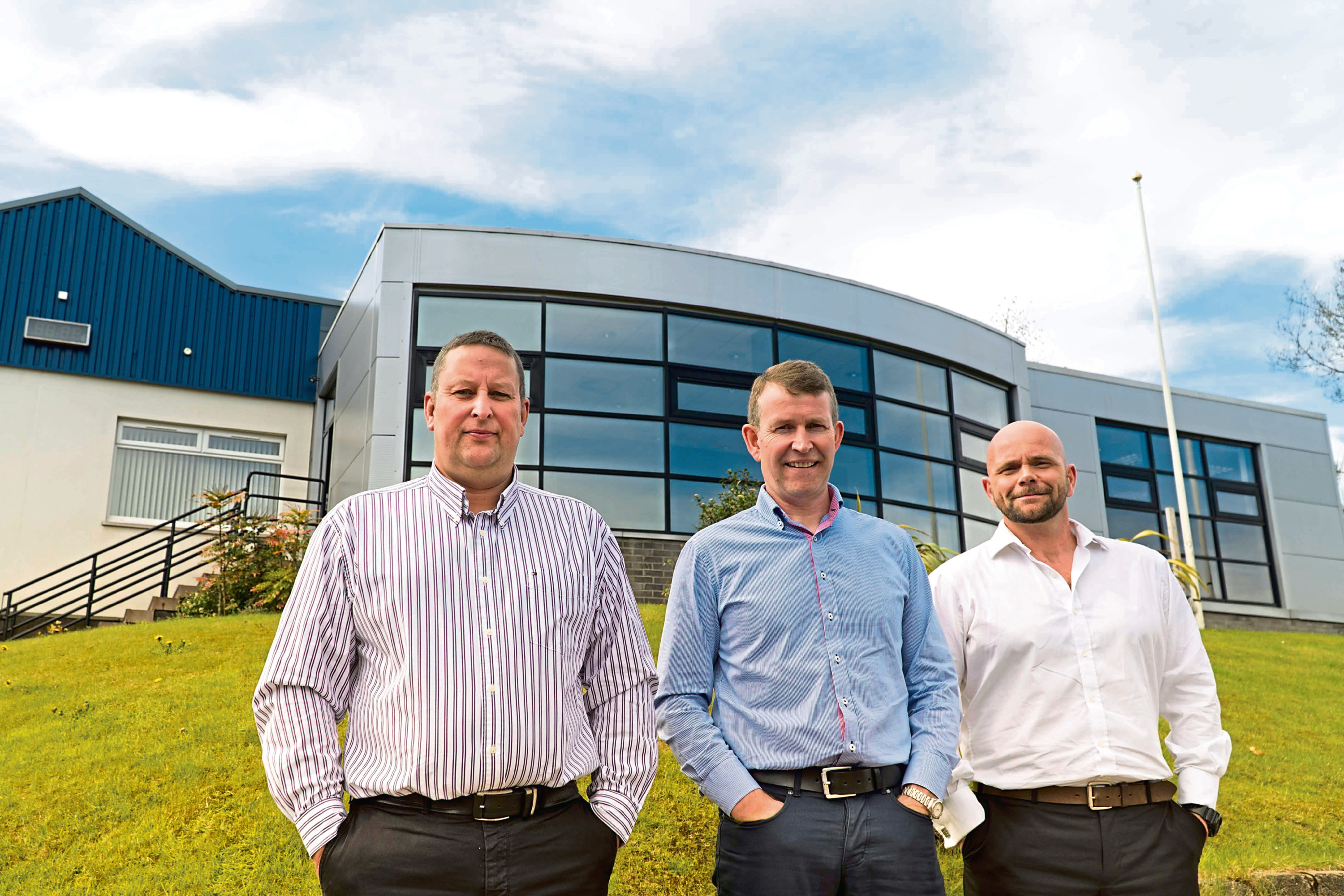 Wellpro Group founders Scott Fraser (technical director), Jim Thomson (CEO) and Grant Forsyth (operations director)
