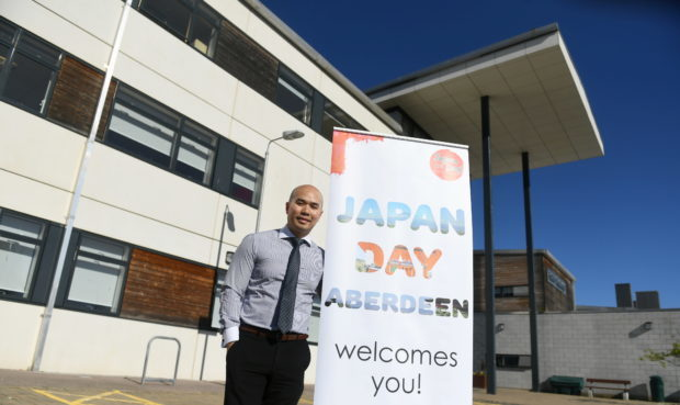 Preston Gan helped organise Japan Day Aberdeen 2018 at Cults Academy. Picture by Chris Sumner