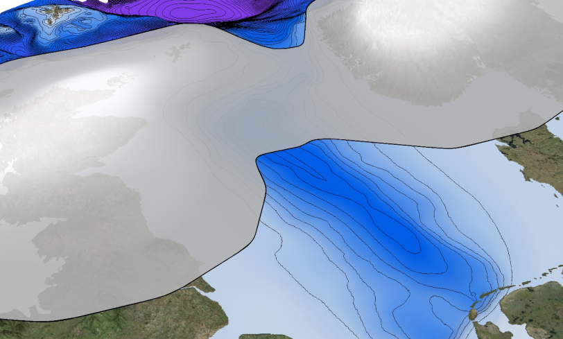 A giant ice sheet covered Scotland and a large portion of the North Sea 2.5 million years ago