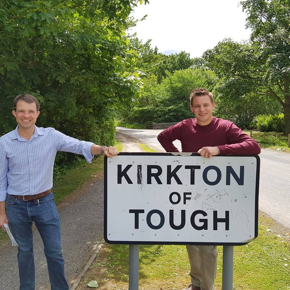 MP Andrew Bowie (left) and councillor Robert Withey
