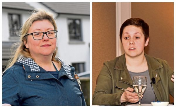 Gill Samurai, left, moved to work for Kirsty Blackman, right, earlier this year