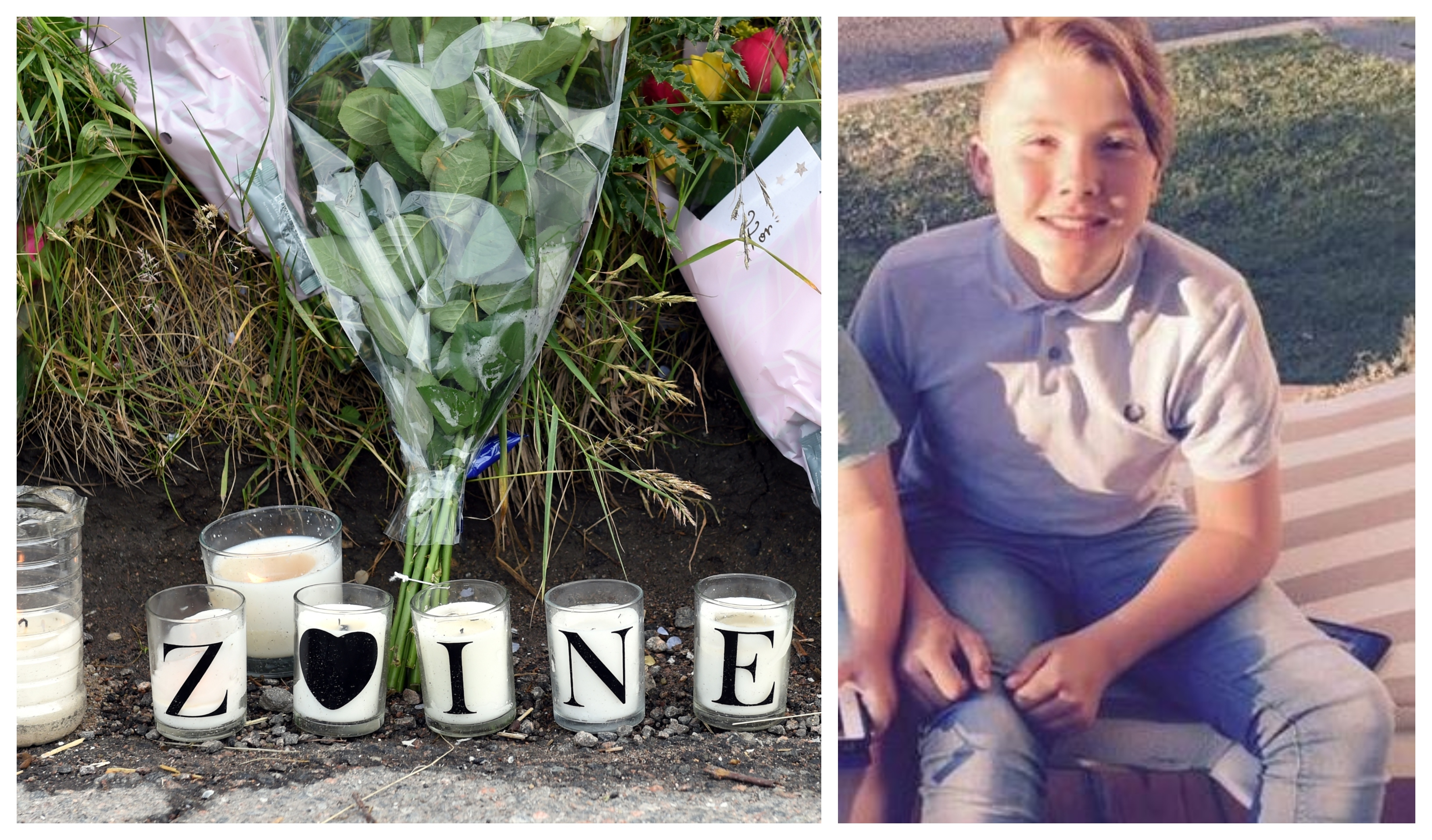 Zaine Grieve, right, died after falling ill in the street