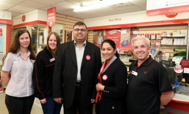 from left: Leah Masser, Jenni Parks, Zulfiquar Ahmad, Sal Ahmad and Derek Mann.  Picture by Jim Irvine.