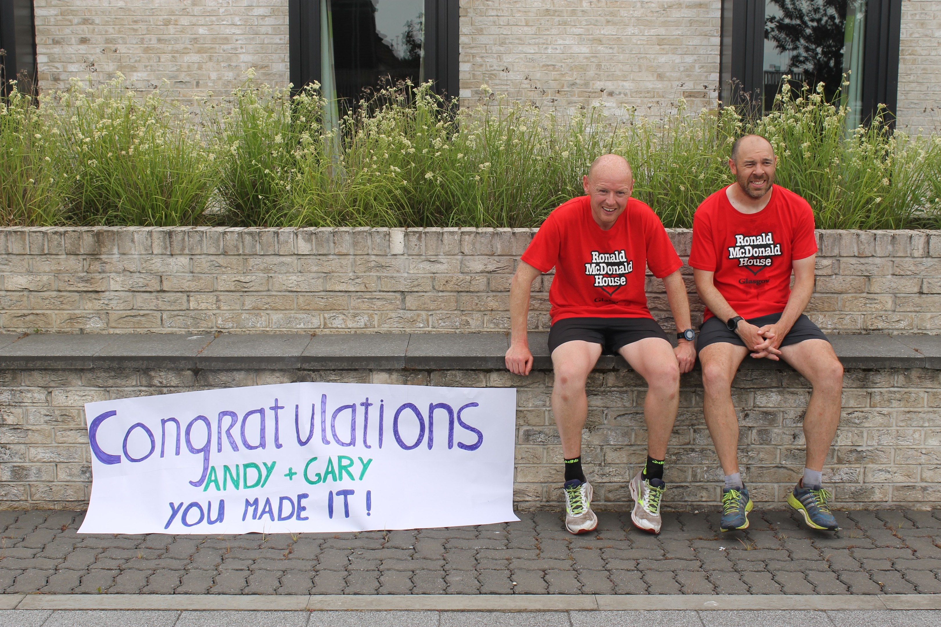Cpl Andy Price and friend Gary Bell ran from Lossiemouth to Glasgow