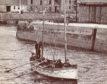 Moray Sea School students depart Burghead Harbour.