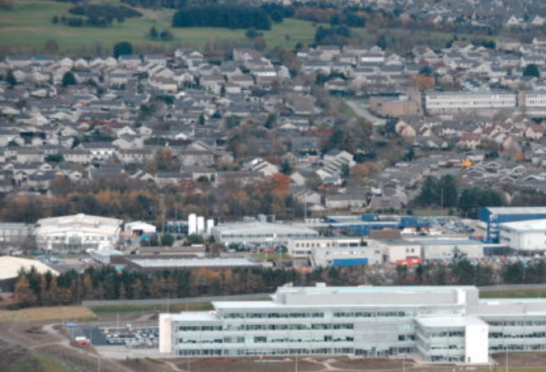 Aerial shots of Westhill including new industrial estate. Picture by: Simon Walton