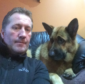 Colin Maclean with Zak the Alsatian, who suffered a heart attack on Tuesday