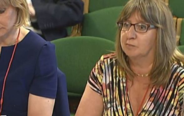 Alix Thom, from Oil and Gas UK, giving evidence to the Scottish Affairs Committee.