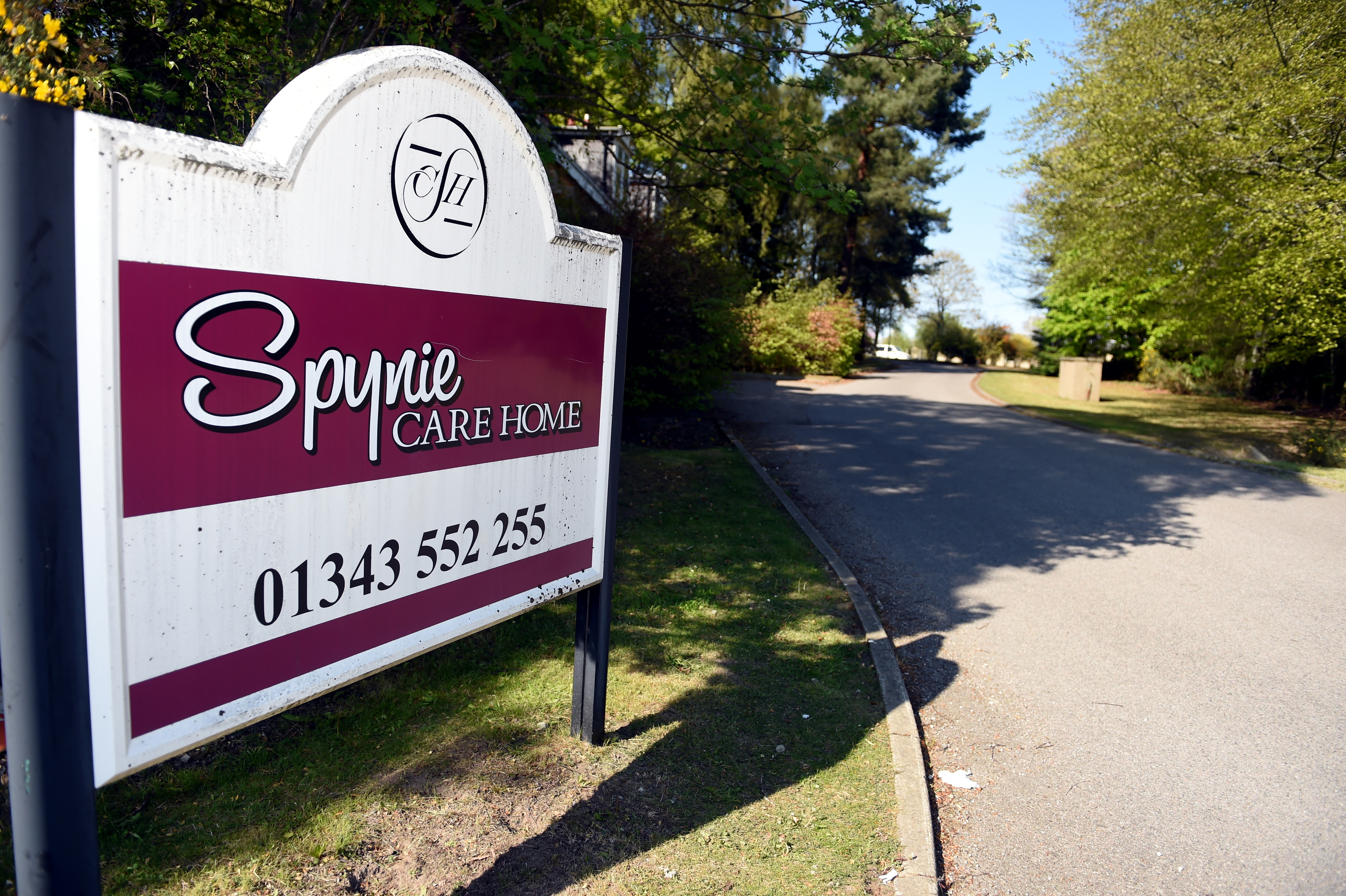 Entrance to Spynie Care Home in Duffus Road, Elgin. Picture by Gordon Lennox.