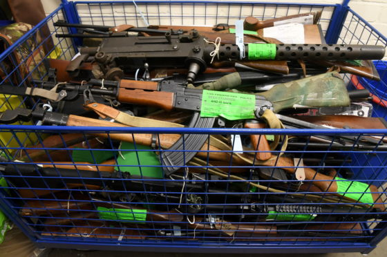 Some of the firearms.= taken (Picture: Chris Sumner)