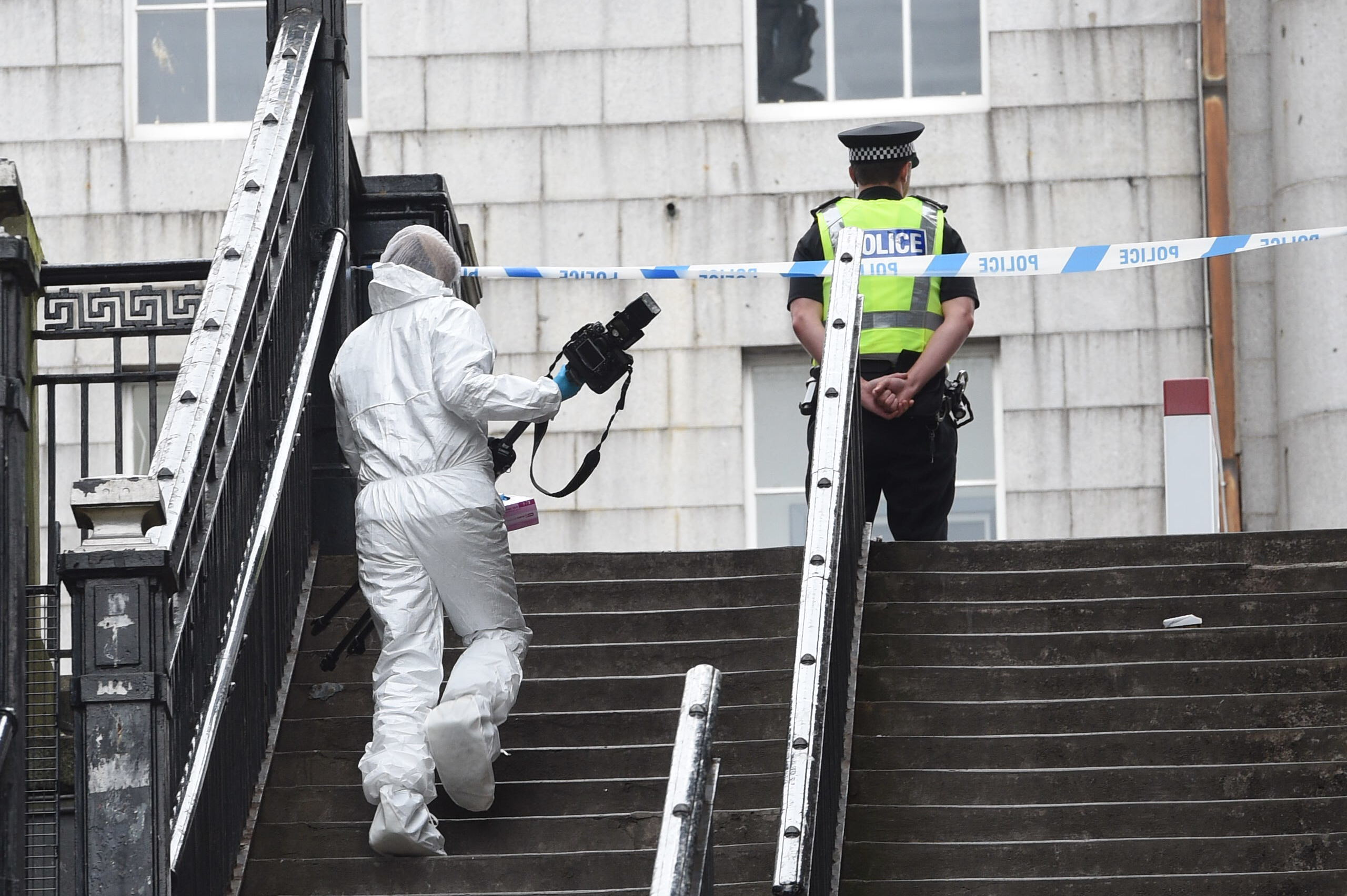 Officers at the scene of the incident