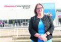 AIA Managing Director Carol Benzie outside Aberdeen International Airport