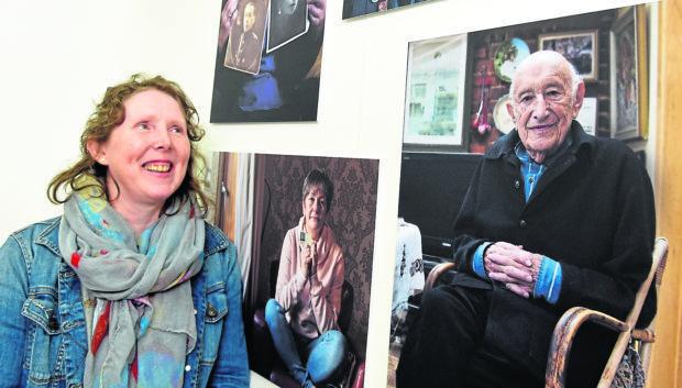 Gray's School of Art, artist Jennie Milne with her exhibition