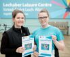 Eilidh McArthur and Mairi McArthur promote the new Gaelic swimming lessons