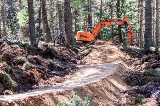 Work gets under way at the Glenlivet Estate to create new and more challenging routes for mountain bike enthusiasts