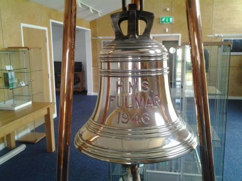 The bell from HMS Fulmar left the region in the 1970s, only returning two years ago.