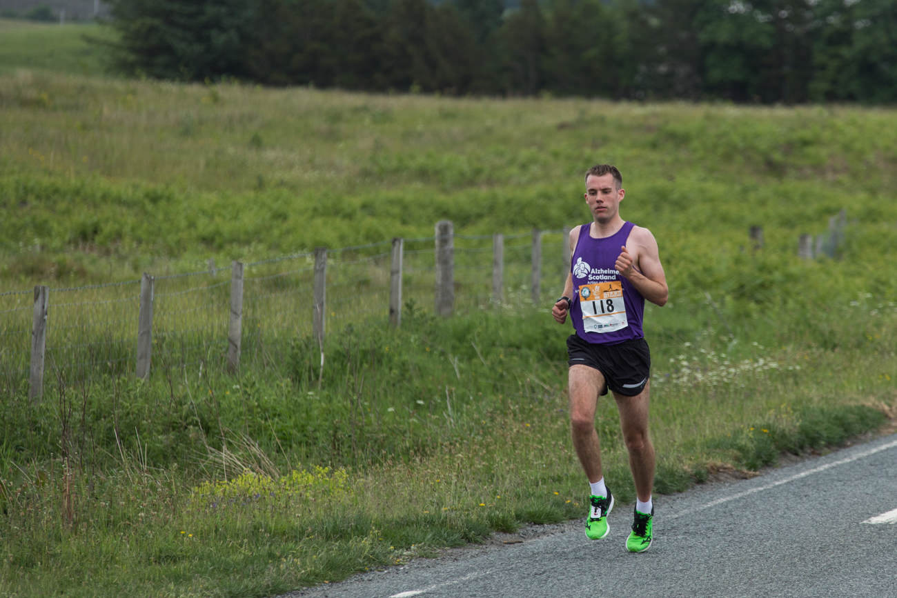 Hugh Campbell in action at the Skye Half Marathon