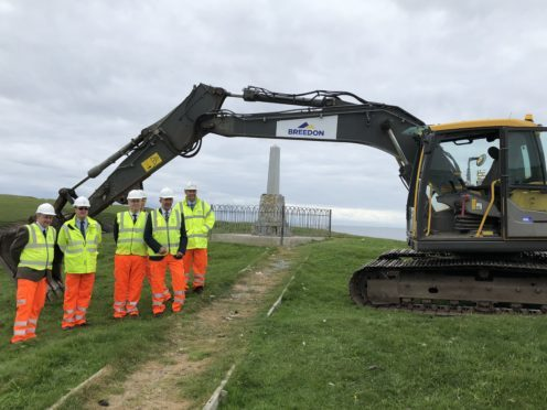 Breedon Group lay the foundations for new lolaire memorial path