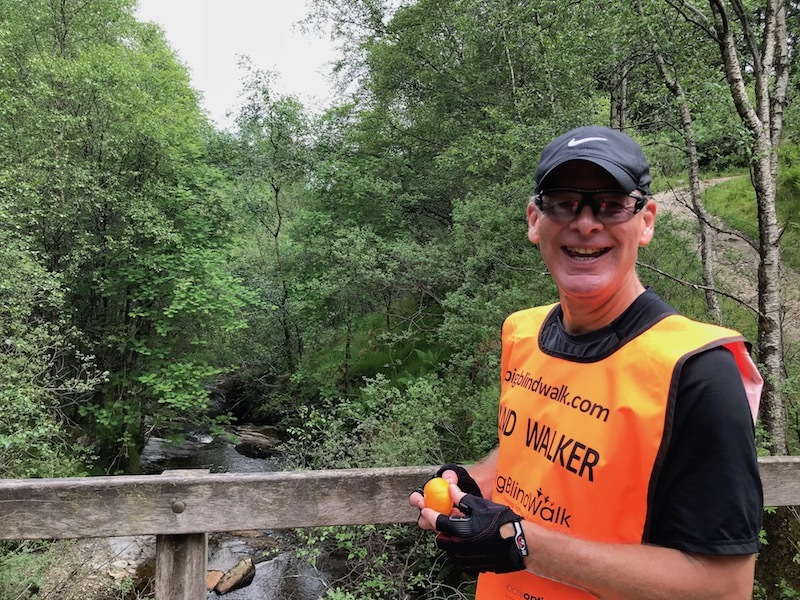 Julian Jackson is walking over 1,000 miles to raise funds for the National Eye Research Centre charity.