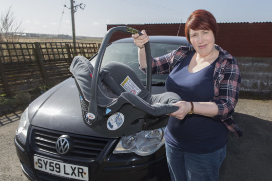 Susanne Robertson spoke out after her baby had a fit on the way home from Glasgow. Picture: Robert MacDonald/Northern Studios.