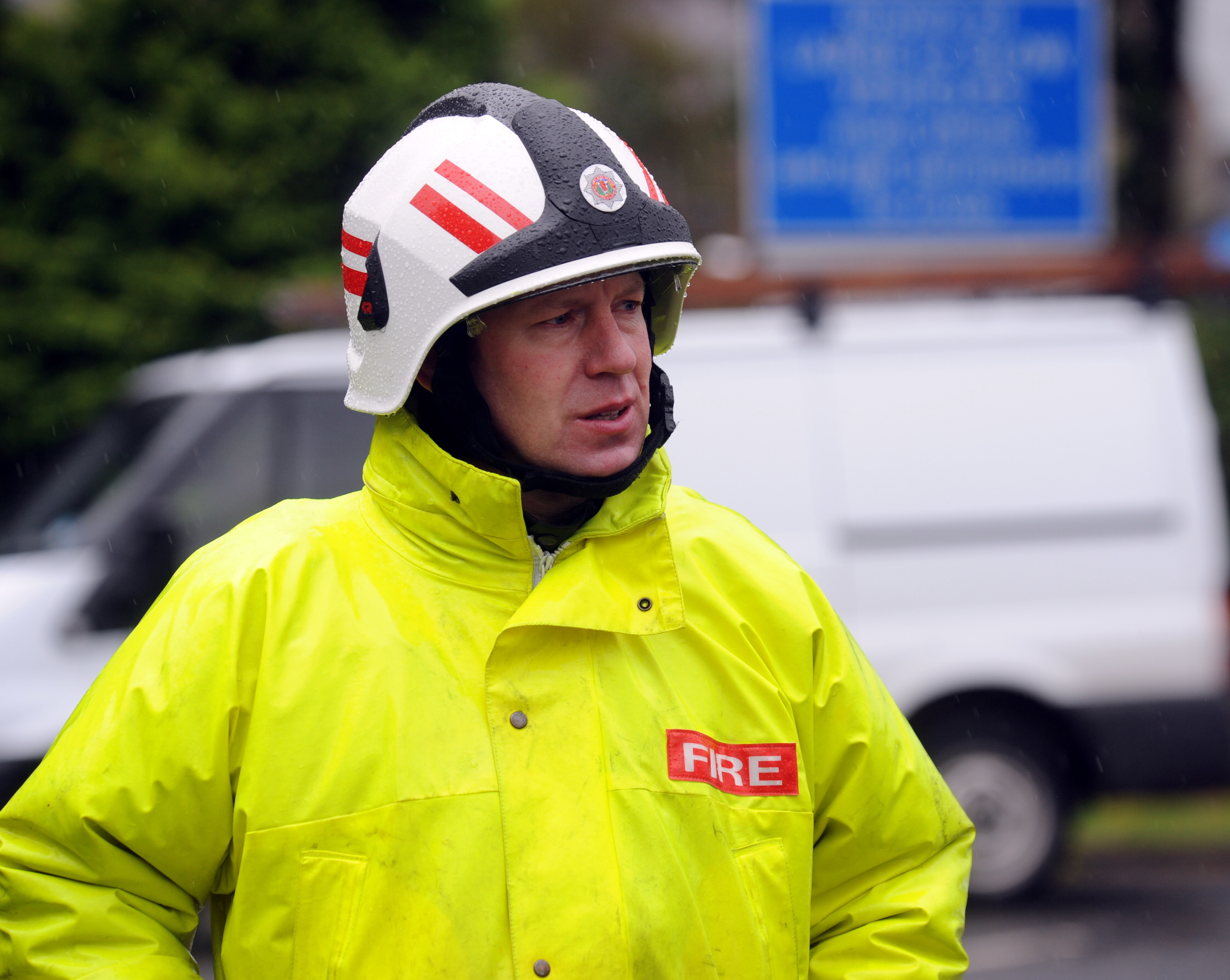 Local senior officer for Aberdeenshire and Moray David Rout at the scene of a flood in 2009. Picture by Jim Irvine.