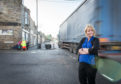 Speyside Glenlivet councillor Louise Laing inspects the lunchtime traffic in Aberlour