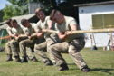 A team from the 22 Engineer Regiment took part in a fiercely fought tug of war.