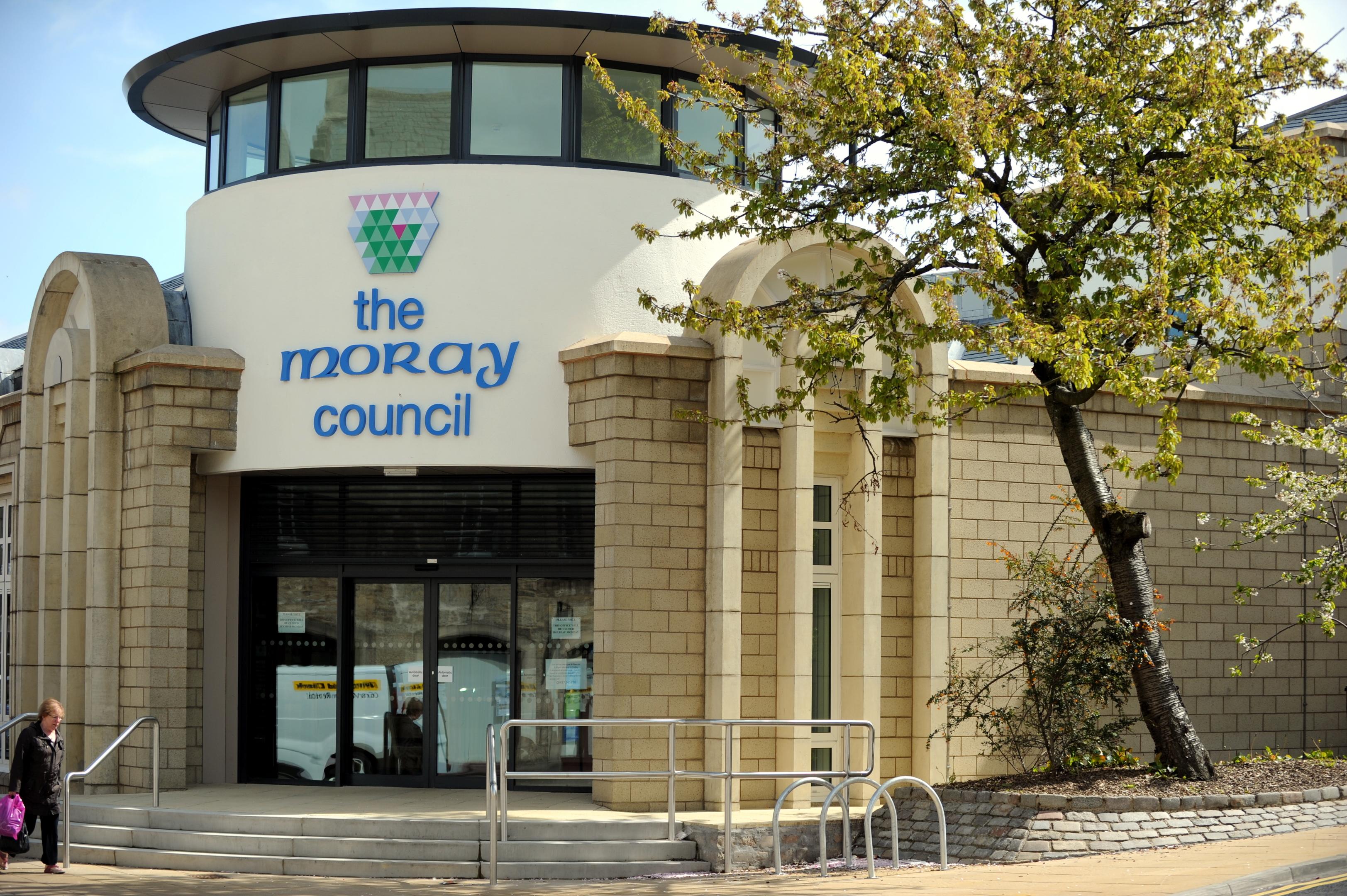 Moray Council's Elgin headquarters.