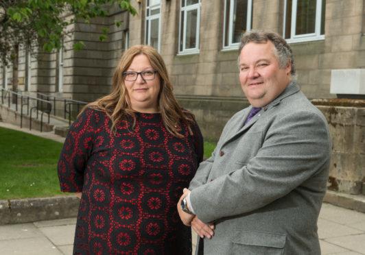Moray Council's new convener, Shona Morrison, and leader, Graham Leadbitter.