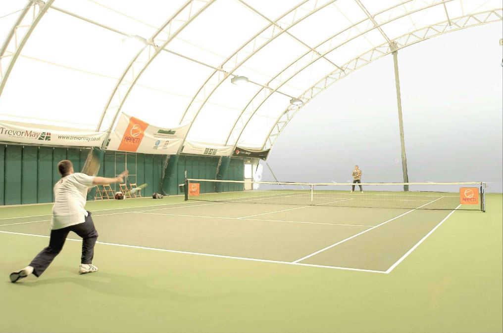 An artist impression of what the indoor tennis courts at Moray Sports Centre will look like.