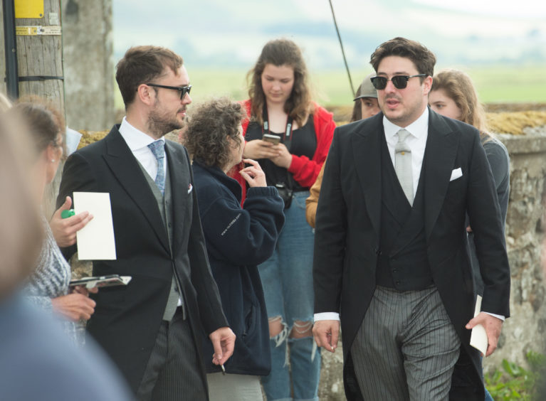 Members of Mumford and Sons at the wedding