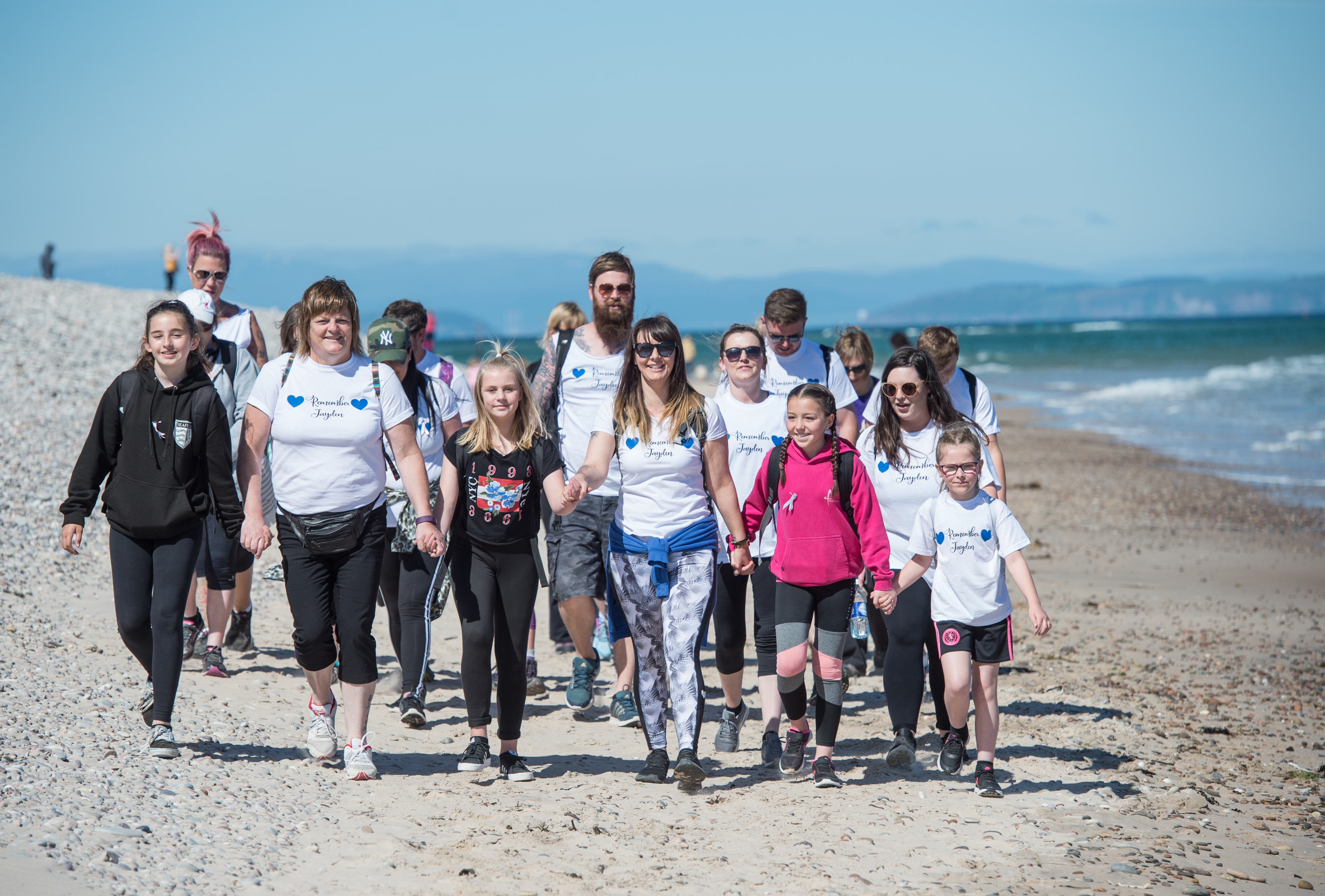 The parents, friends and family of Jayden Ravello who died 2 years ago, embark on a 17-mile walk