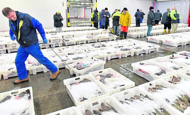 Fraserburgh Harbour Fish Market.