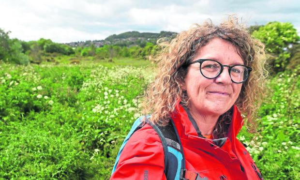 Caroline Snow at the Merkinch Local Nature Reserve.