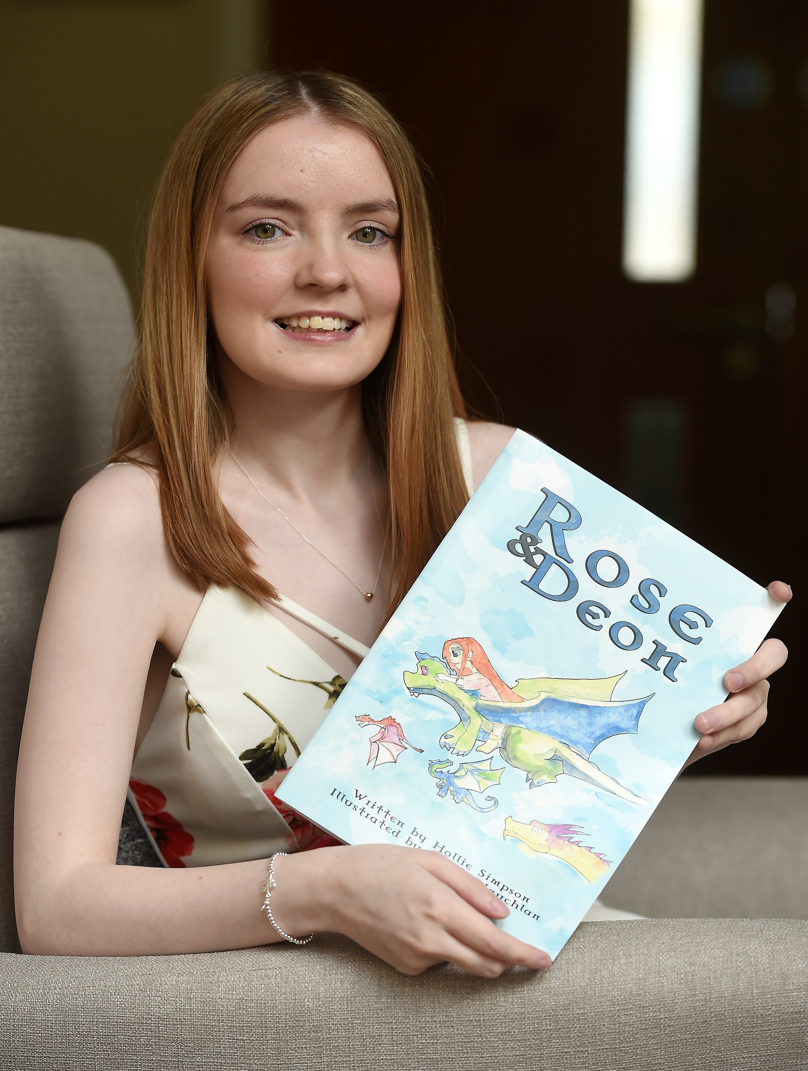 Holly Simpson of Forres launches her book yesterday (Thurs) in the Netley Centre of the Highland Hospice in Inverness. Picture by Sandy McCook.