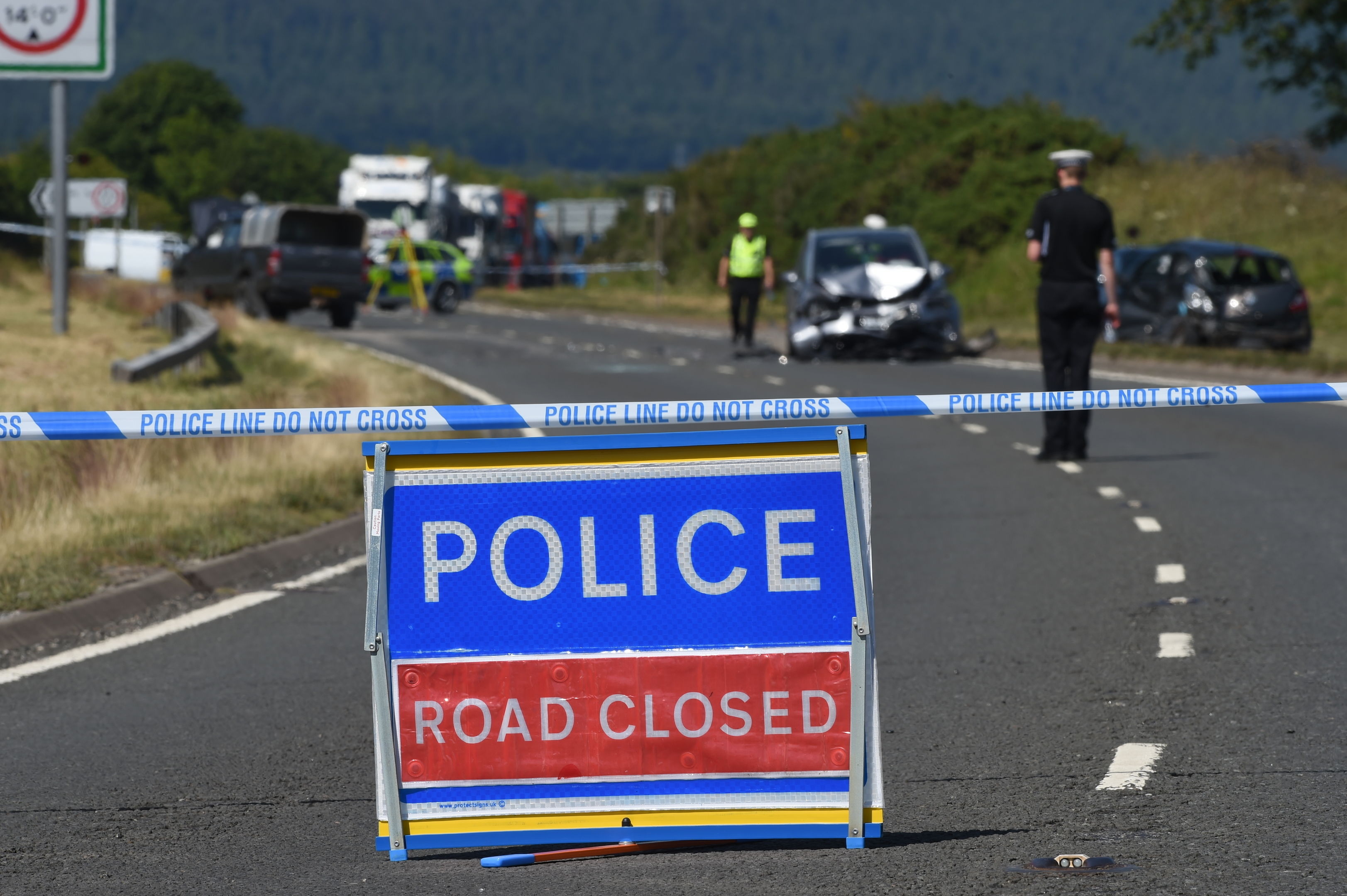 The collision in Easter Ross took place just after midday.