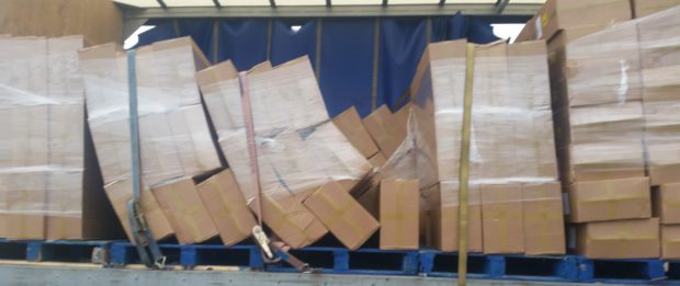 The boxes seized from the Gartcosh area containing suspected illicit cigarettes. Picture: HMRC