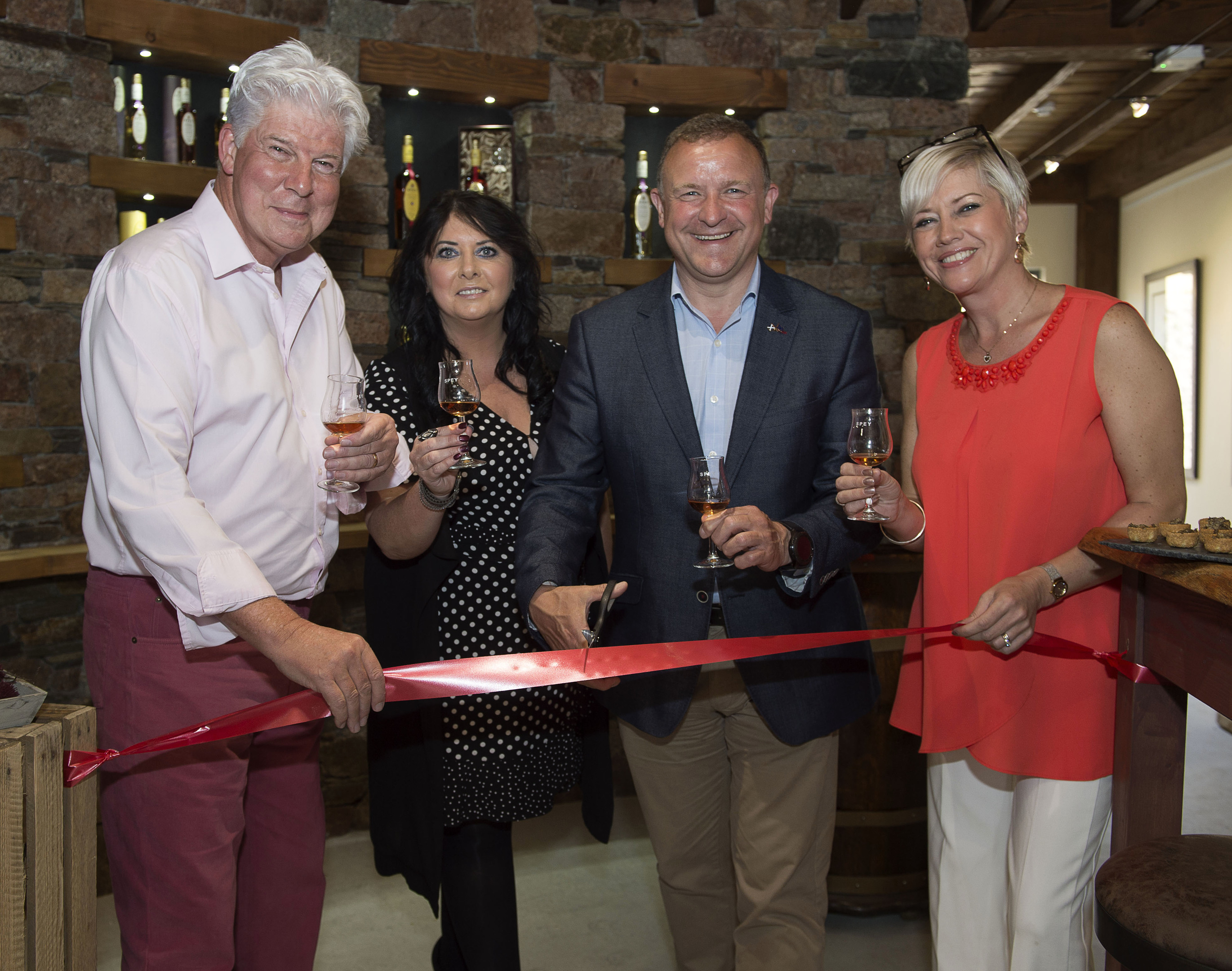 Celebrating the official opening of The Snug are (left to right) John Harvey McDonough, Patricia Dillon, local MP Drew Hendry and Joanna McDonough. Picture by Trevor Martin