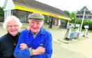 Rita and John Strang used to run The Garage petrol station