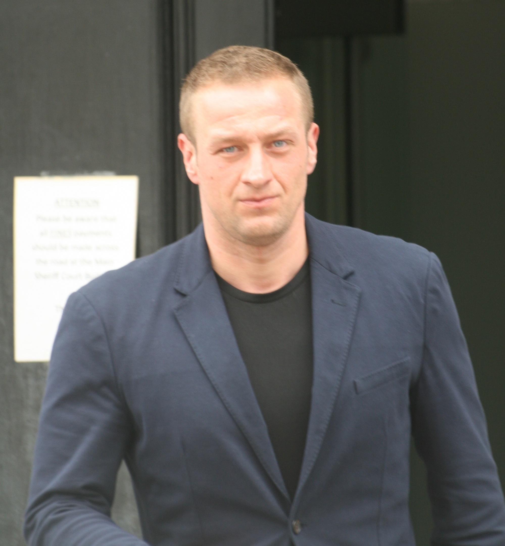 Alin Jar leaving the High Court in Aberdeen last month
